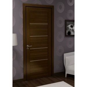 Двері шпоновані з молдингом L5