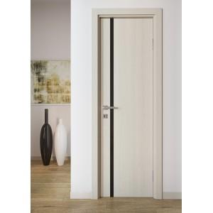 Двері шпоновані з вертикальним склом L8